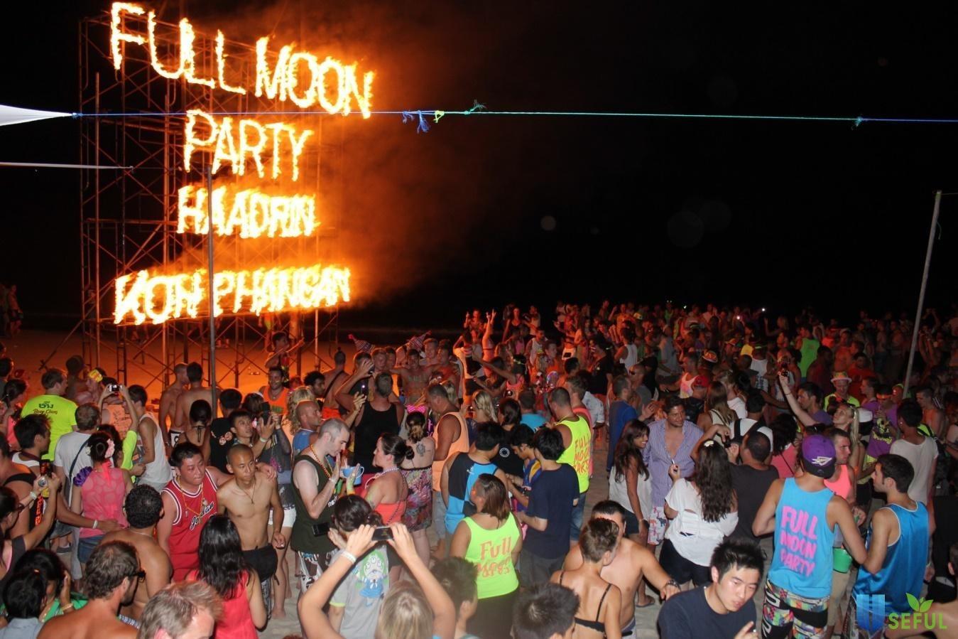 Tiệc Full Moon Party ở Haad Rin