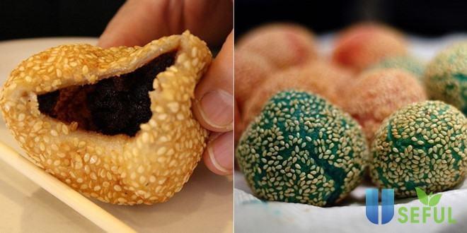 Bánh rán vừng ăn vặt của Hồng Kông