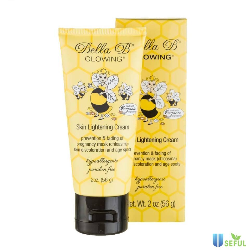 Kem sáng da cho mẹ bầu và sau sinh Organic Bella B Glowing Skin Lightener