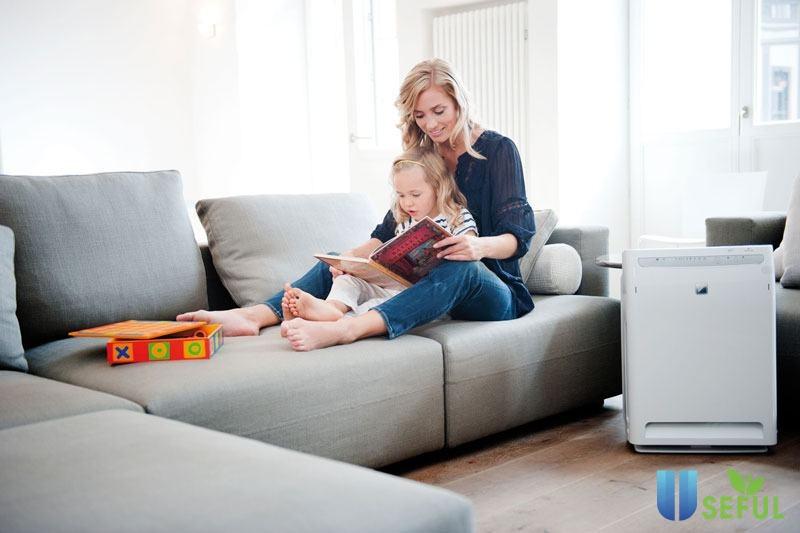 Máy lọc không khí tốt cho gia đình có trẻ em
