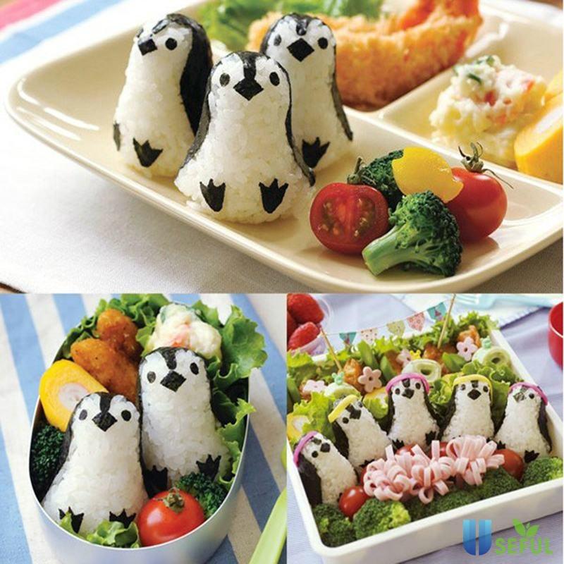 Cơm Bento hình chim cánh cụt đầy mới mẻ và sinh động