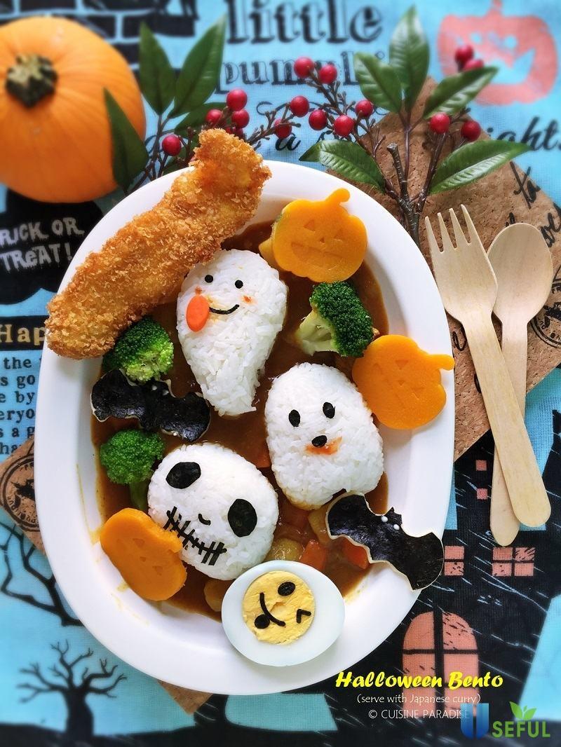 Cơm Bento Halloween độc đáo cho bé