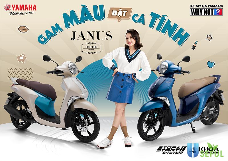 Dòng xe Janus nổi bật với những gam màu ấn tượng của Yamaha