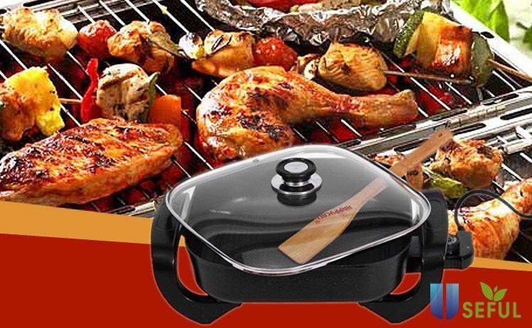 Dễ dàng chế biến các món nướng với chảo điện đa năng ( Nguồn: Internet)