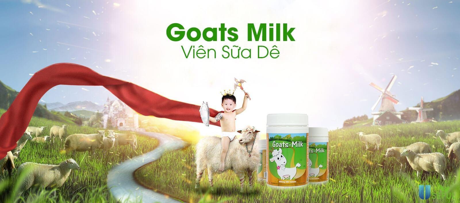 Sữa dê tốt cho trẻ nhỏ