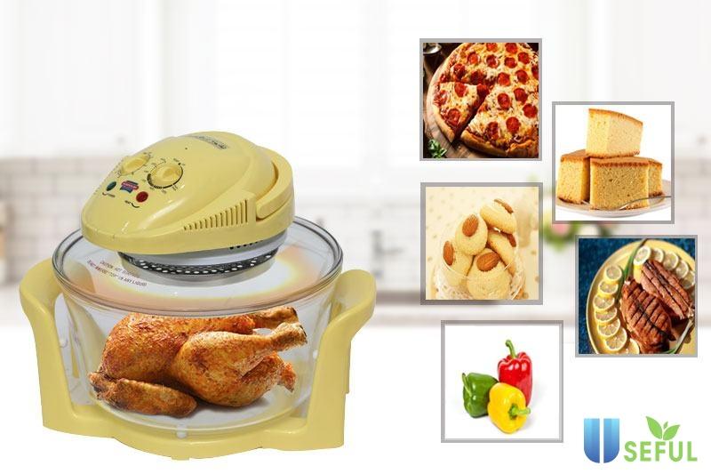 Đặt thức ăn lên khay, vỉ nướng