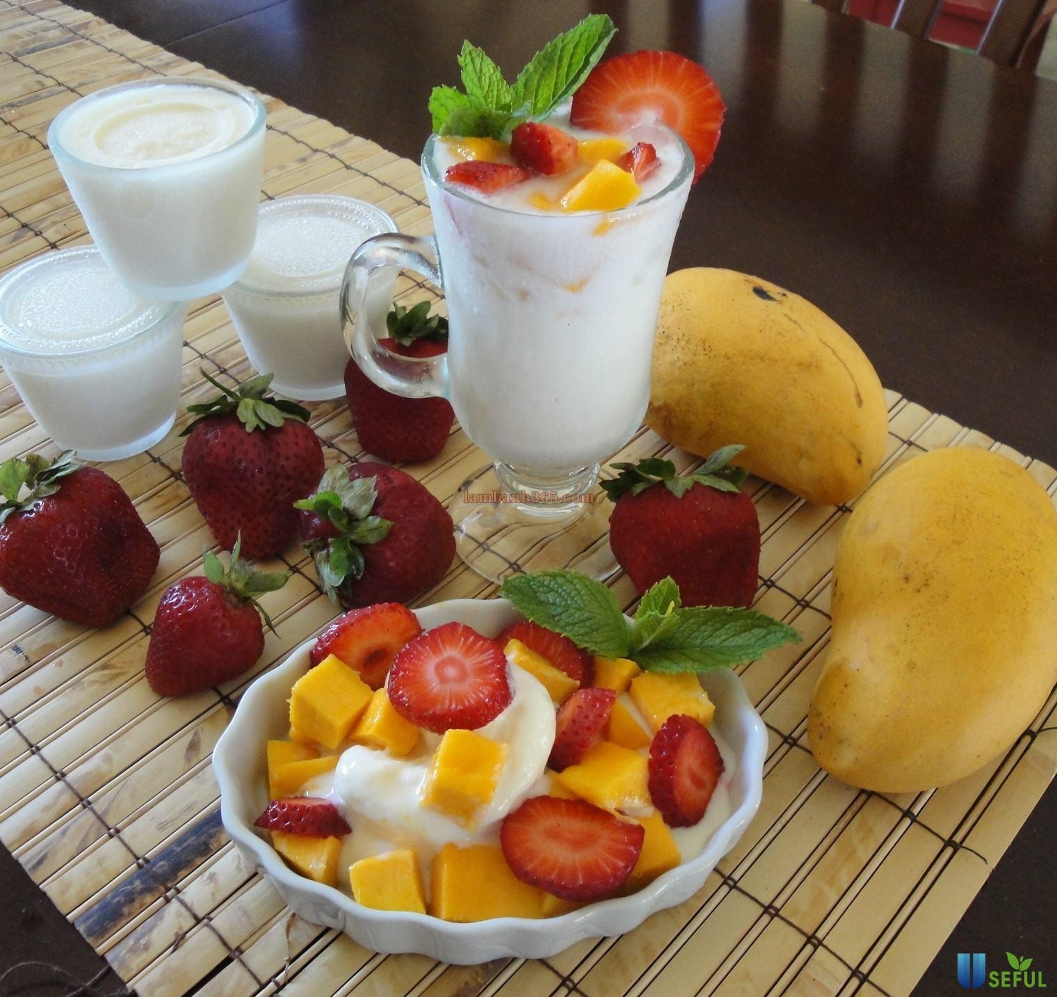 Một dĩa hoa quả dầm sữa chua sẽ giúp bạn giải nhiệt tức thì