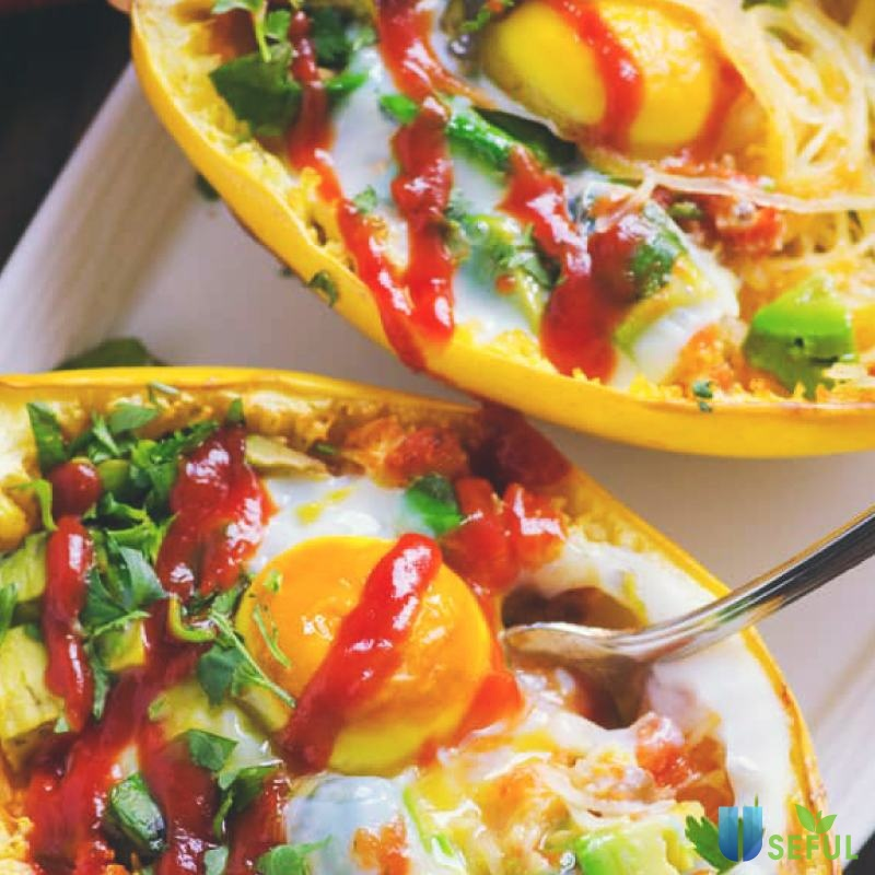 Zucchini Spaghetti với trứng ốp la