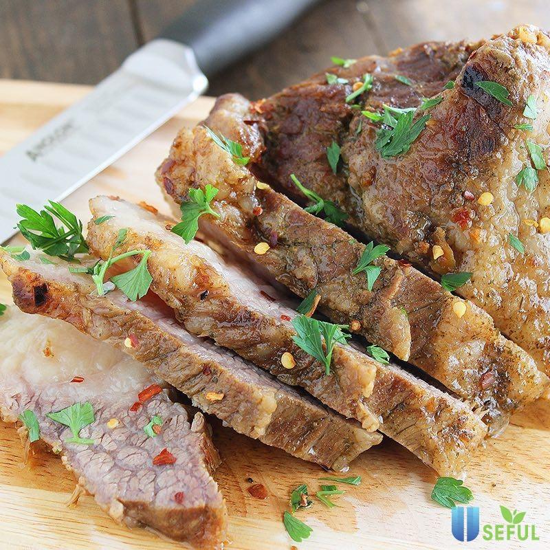 Thịt bê hấp chấm tương