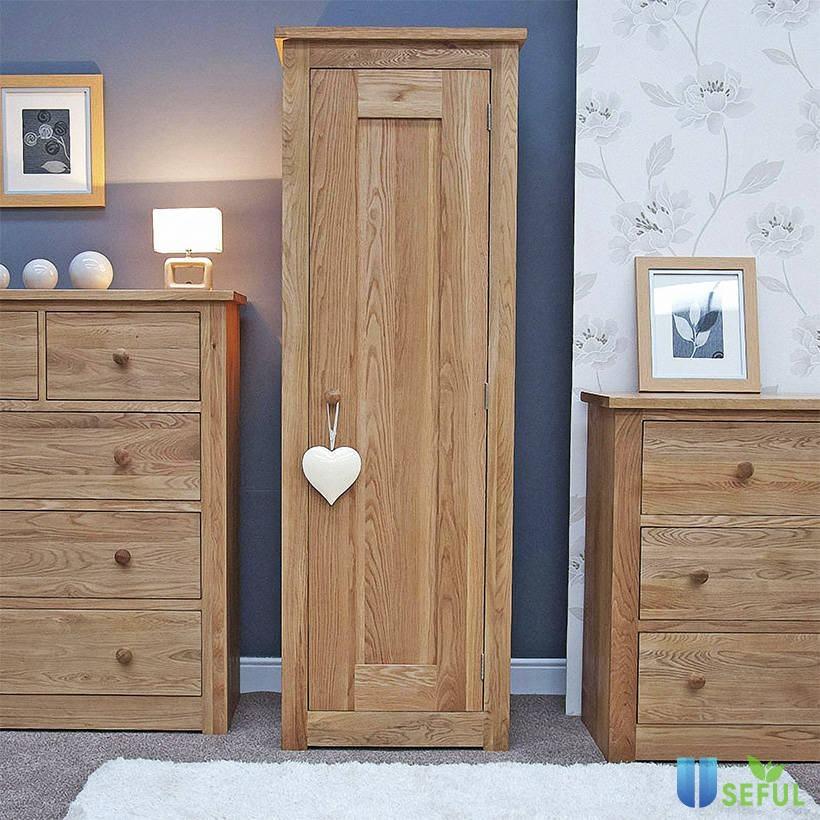 Tủ quần áo một cánh Torino gỗ sồi có thiết kế phù hợp với căn phòng nhỏ (Nguồn: adayroi.com)