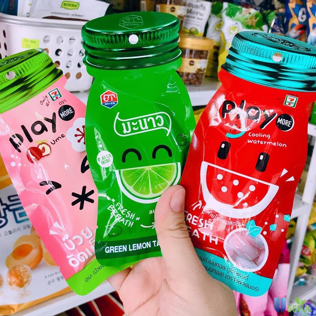 Gói kẹo dẻo cuộn Playmore đủ hương vị thơm ngon