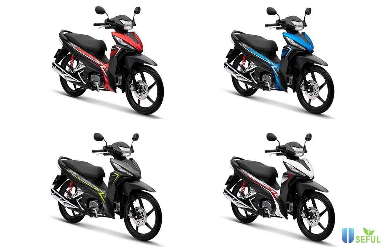 Các màu dòng xe Wave RSX FI 2021 được nhiều người lựa chọn