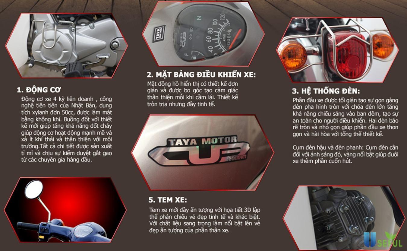 Xe máy Taya Motor Cub 81 thiết kế đơn giản, gọn gàng