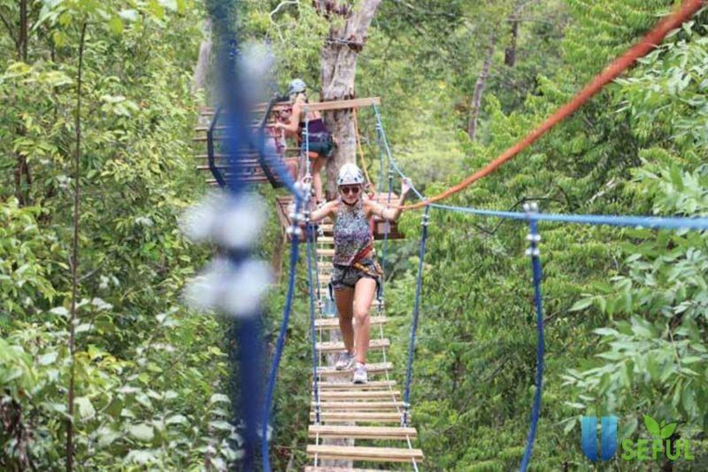 Zipline một trò chơi vô cùng hấp dẫn khi đi Koh Rong