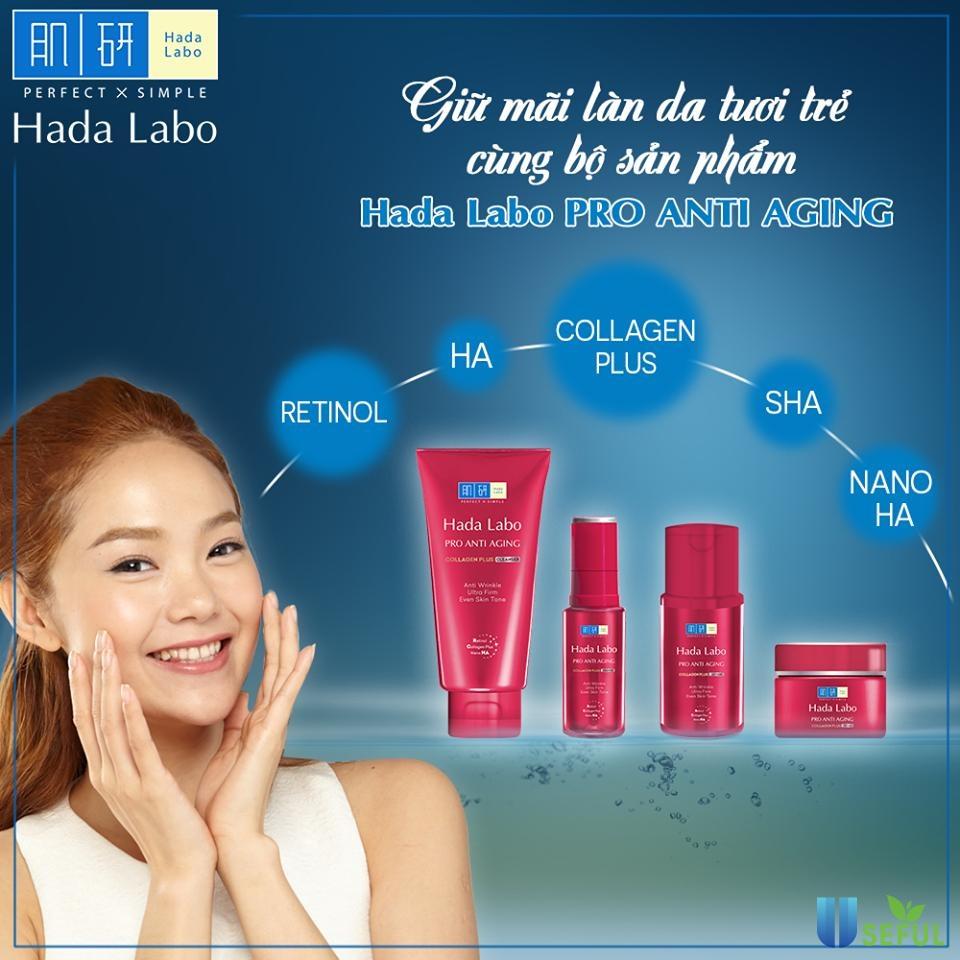 Trọn bộ sản phẩm Hada Labo Pro Anti Aging