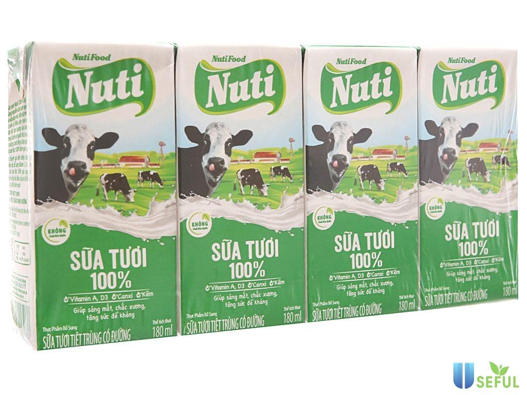 Sữa tươi Nuti 100%