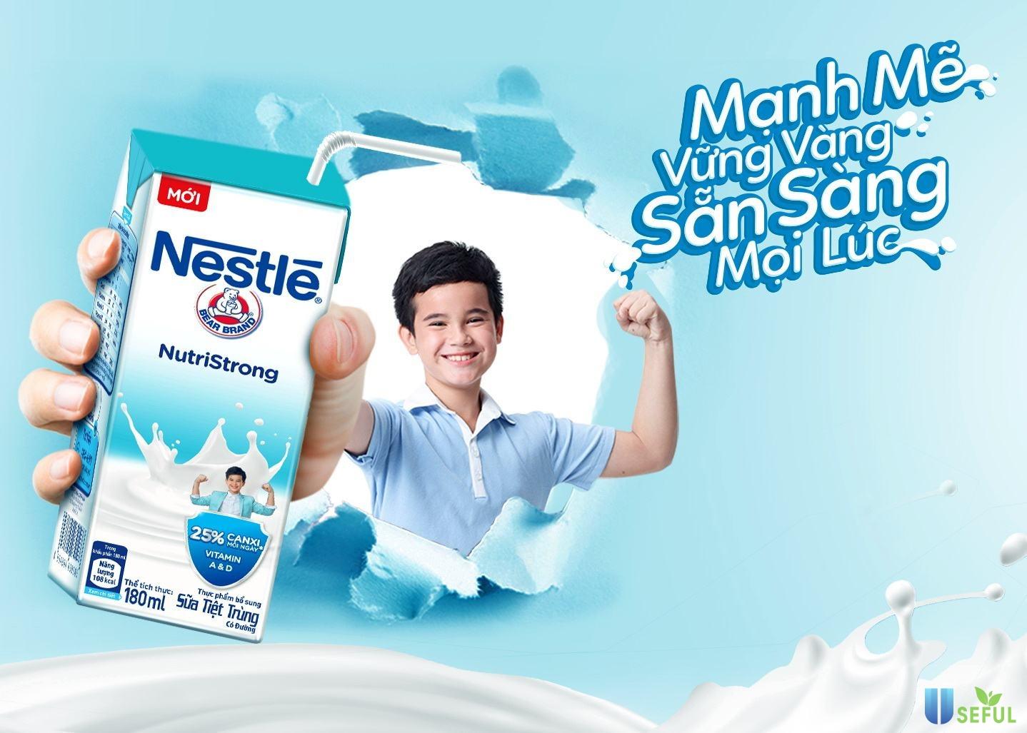 Sữa Nestlé cung cấp 25% nhu cầu canxi cần thiết mỗi ngày
