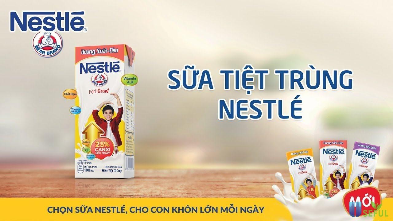 Sữa tiệt trùng Nestle mới