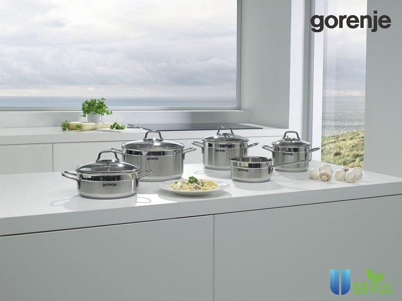 Bộ nồi inox bếp từ Gorenje CW6SC