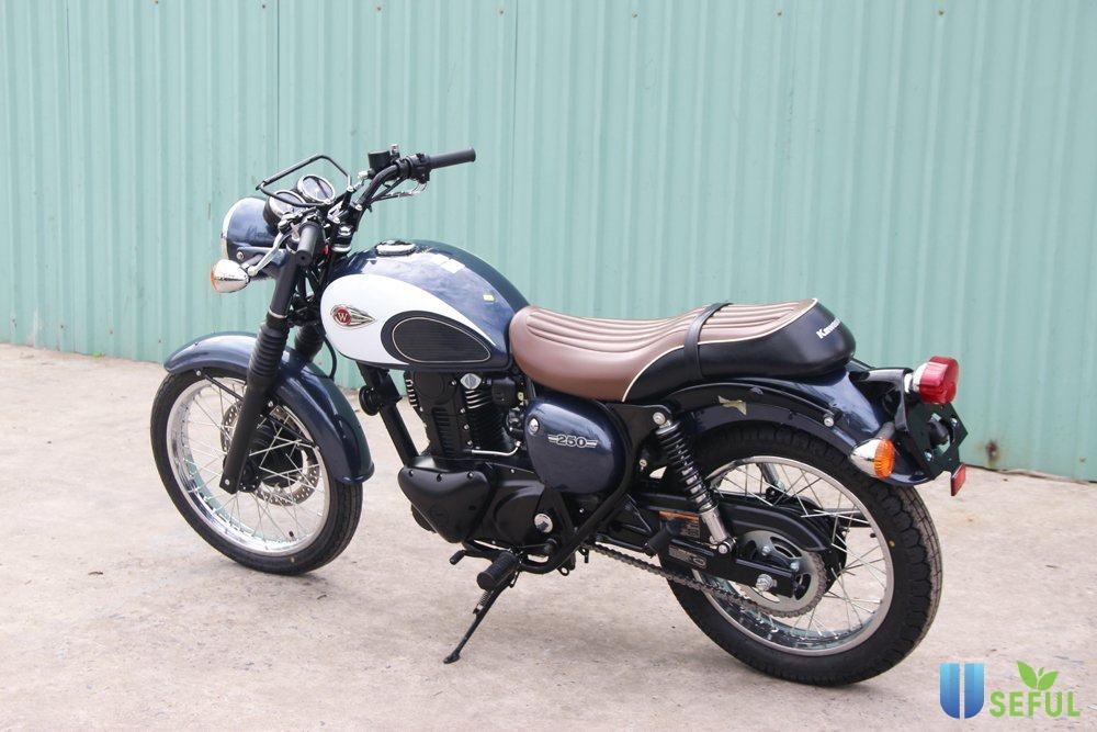 Kawasaki W250 có kiểu dáng thiết kế cổ điển và sang trọng