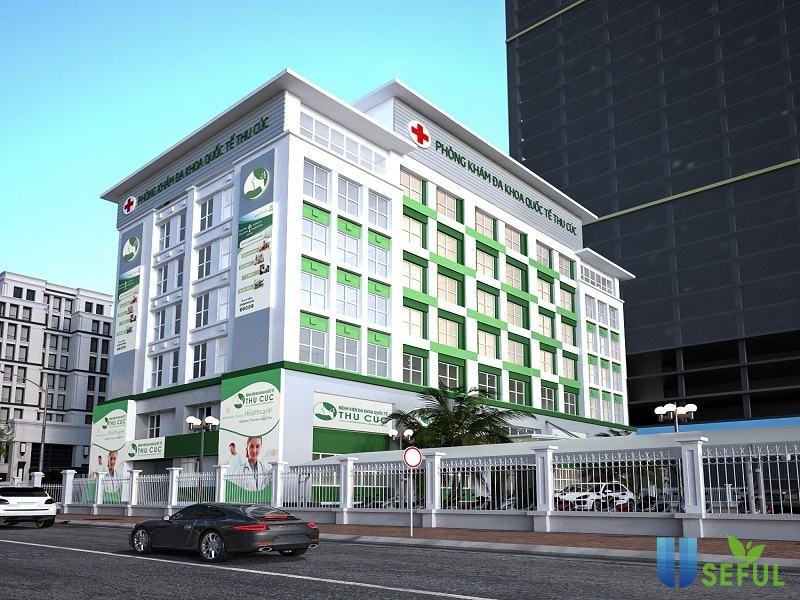 Bệnh viện Thu Cúc được xây dựng khang trang, hiện đại