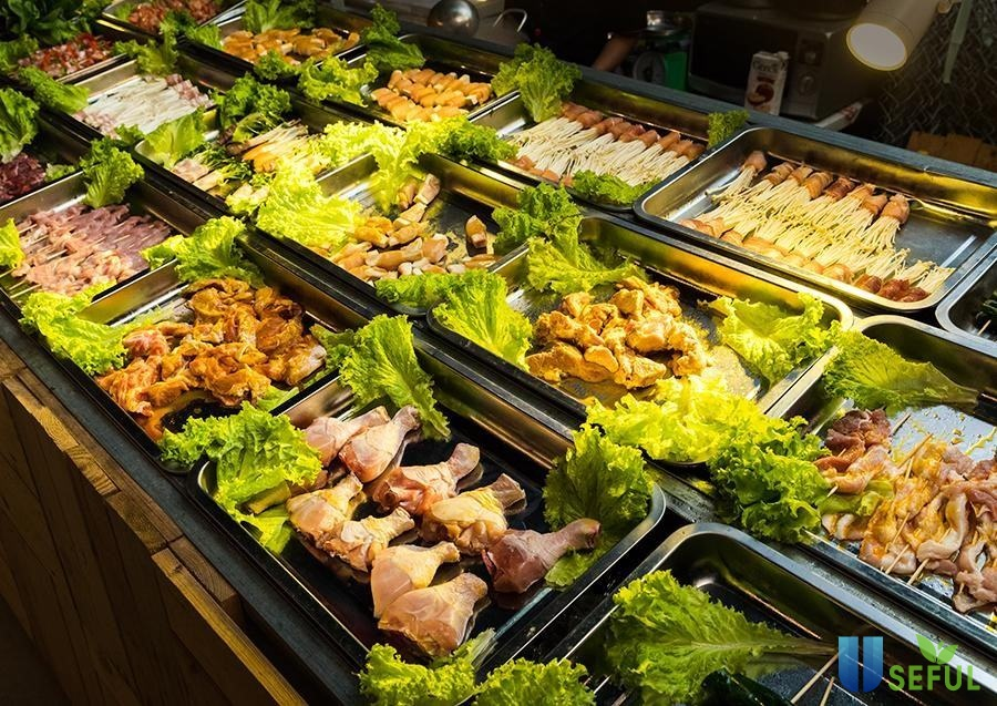 Loại buffet ngon rẻ được trình bày khá bắt mắt