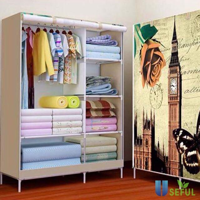 Tủ vải 3D 2 buồng 6 ngăn   Shopee Việt Nam