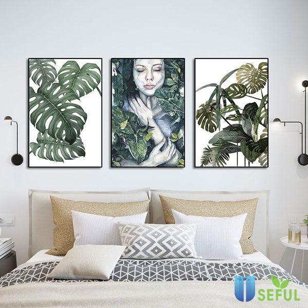 Tranh trang trí phòng ngủ là một ý tưởng không tồi để làm tăng thẩm mỹ cho căn phòng bạn