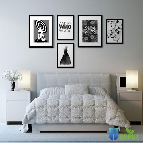 Tranh treo tường phòng ngủ có thể là hình ảnh hoặc câu sologan mà bạn tâm đắc nhất