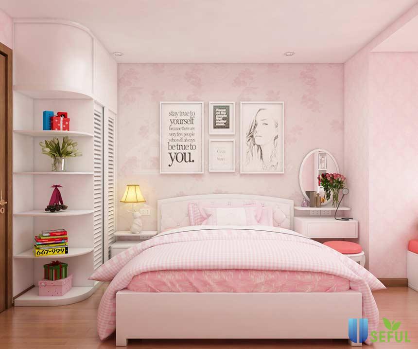 Cách trang trí phòng trọ dễ thương bằng giấy dán tường