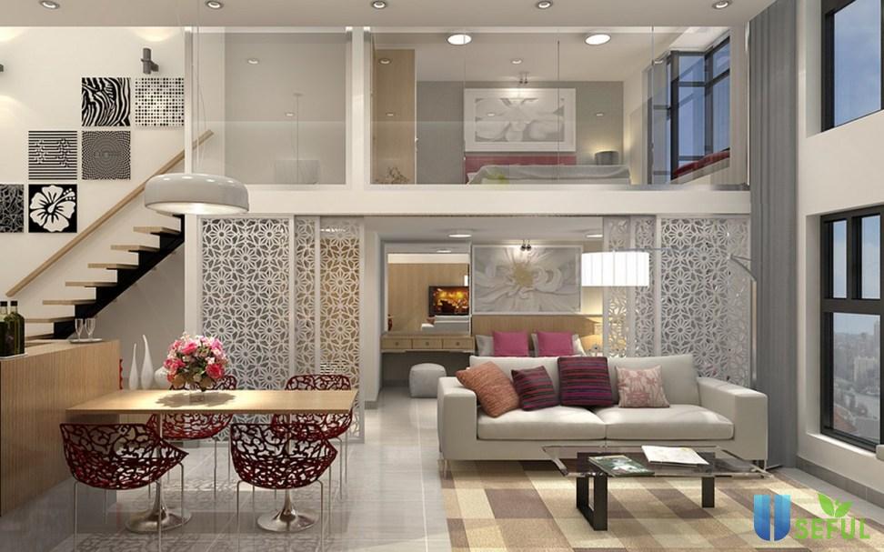 Mẫu trang trí phòng trọ dành cho không gian rộng, có tầng