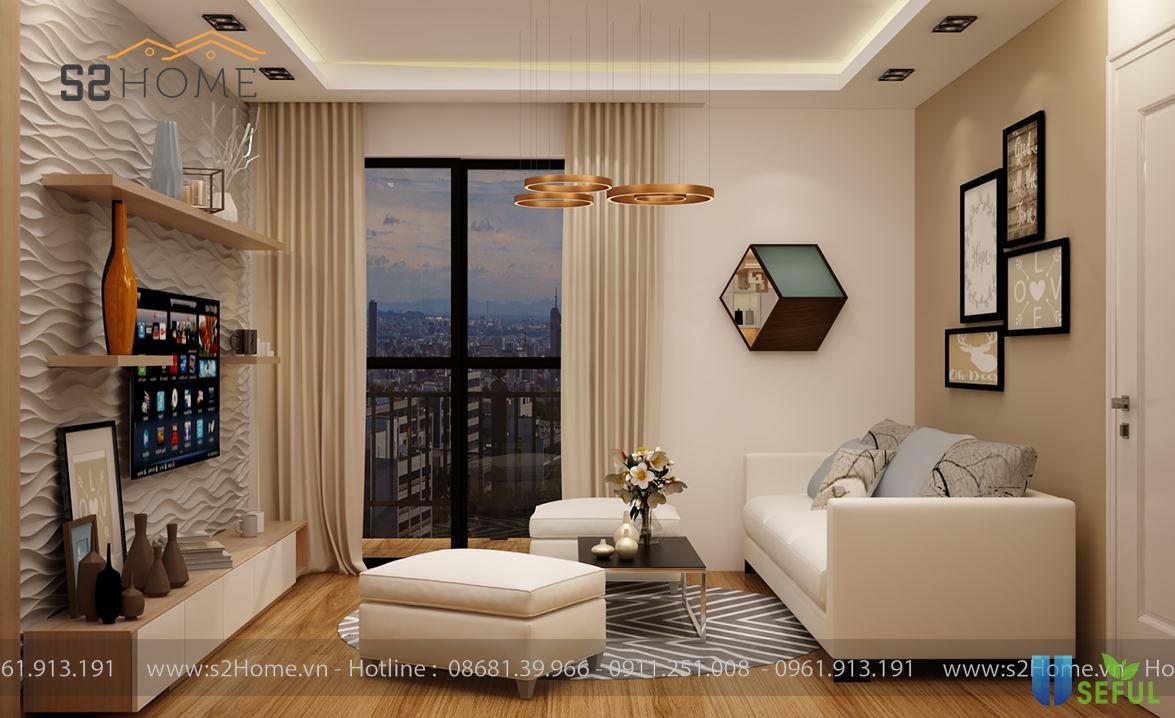 Gợi ý thiết kế căn hộ chung cư nhỏ 2 phòng ngủ