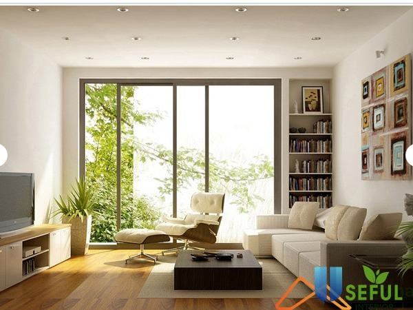 Thiết kế phòng khách chung cư theo phong cách mở