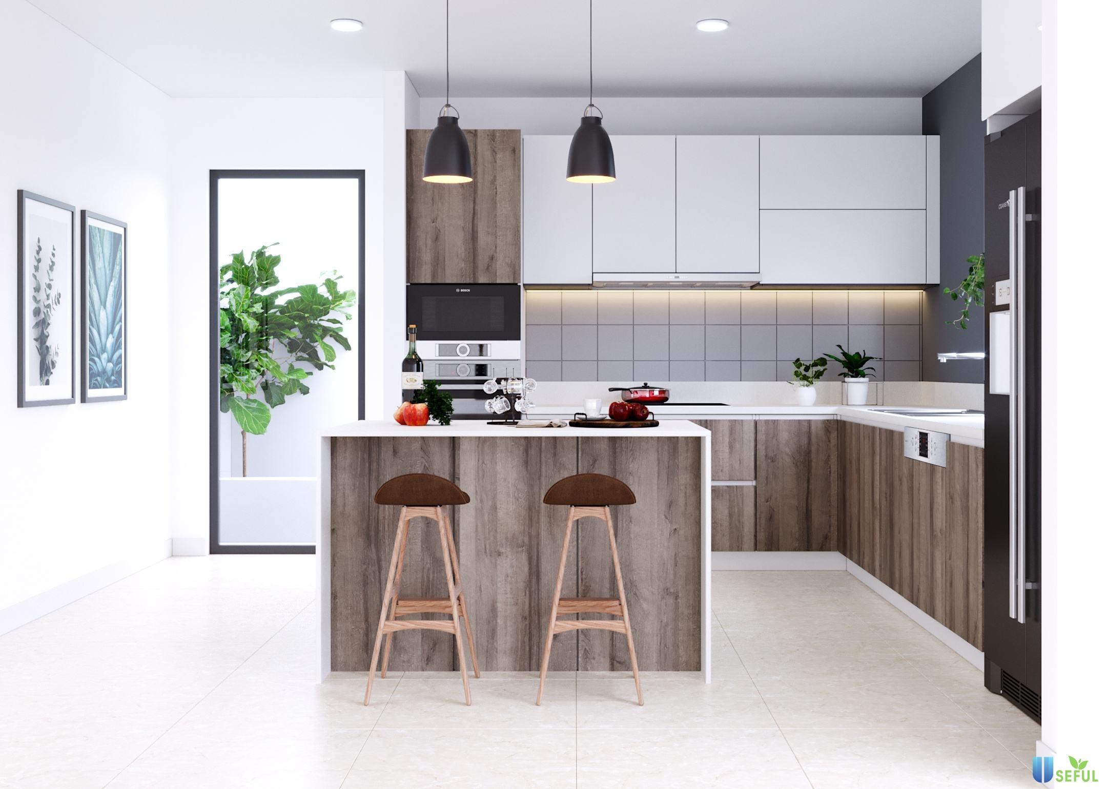Những mẫu nội thất bếp đẹp hiện đại sang trọng