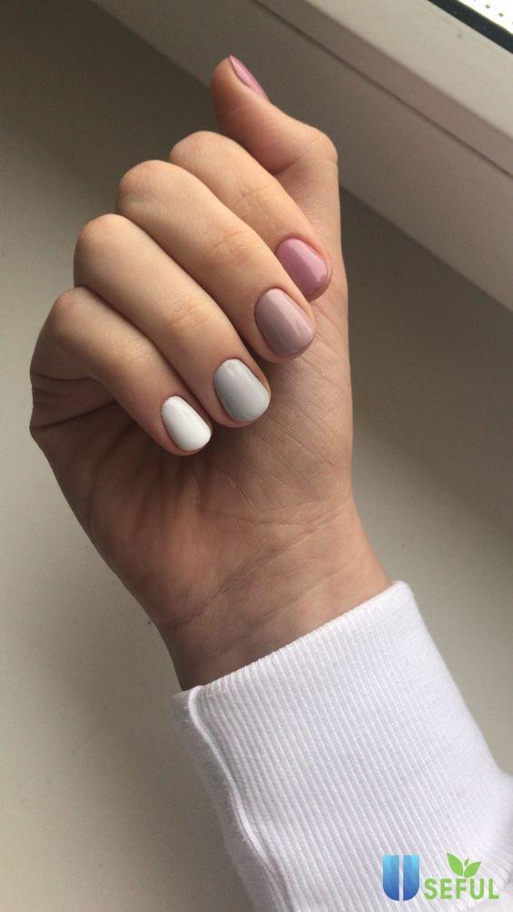 Mẫu naill thay đổi tông màu đơn giản