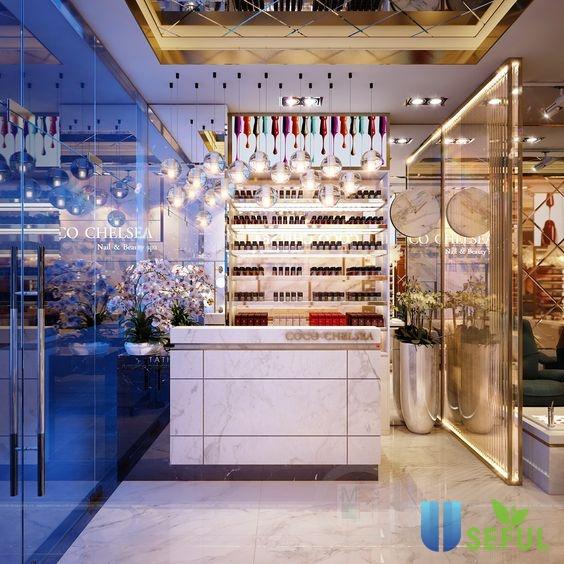 Các tiệm làm nail tại quận 2 Hồ Chí Minh phong cách sang trọng