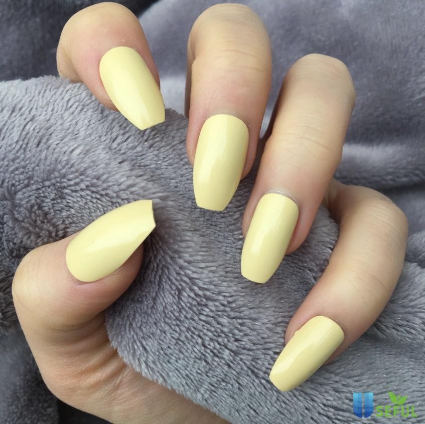 mẫu nail màu pastel với sắc vàng tươi tắn đẹp cho nàng da ngăm đen - Baotrithuc.vn