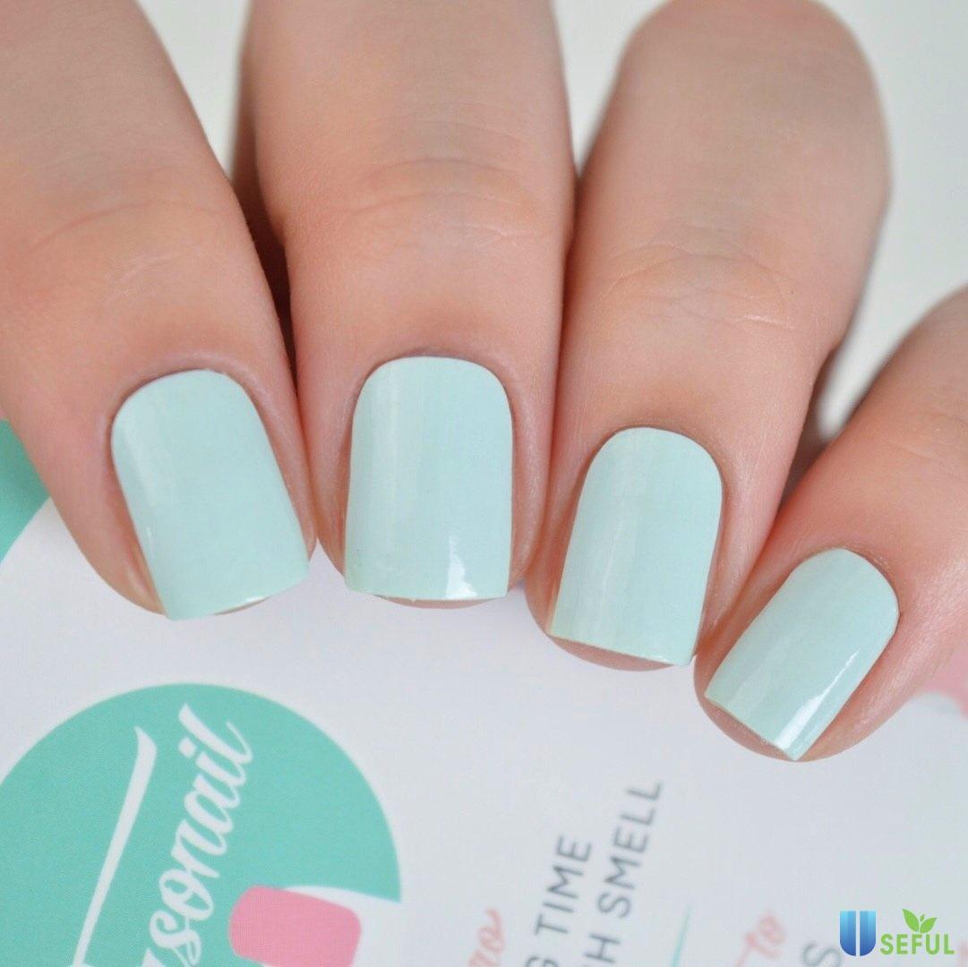 mẫu nail với màu xanh mint trong trẻo - Baotrithuc.vn