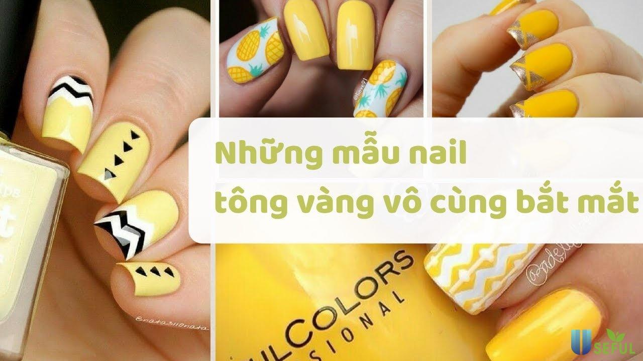 Những mẫu nail tông vàng vô cùng bắt mắt - YouTube