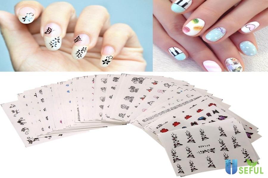 Nail sticker với những hình thù đa dạng