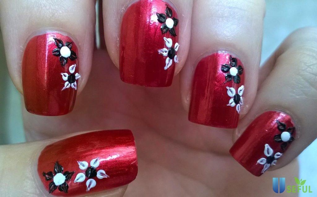 các mẫu vẽ hoa móng tay đẹp