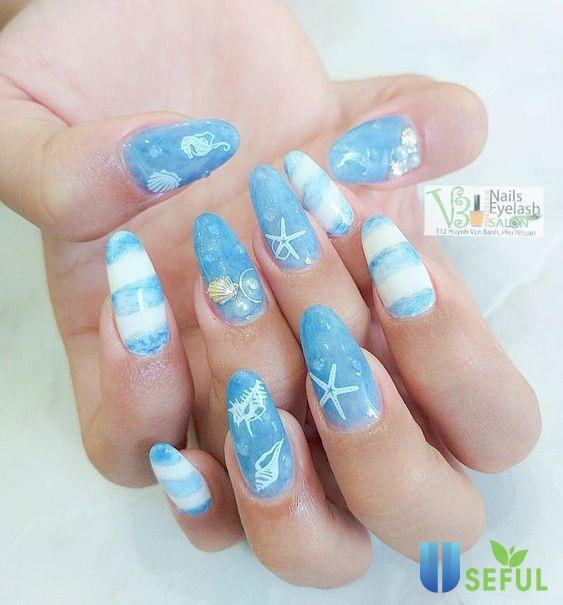 Các mẫu nail xinh đơn giản dành cho nàng khi diện đồ đi biển