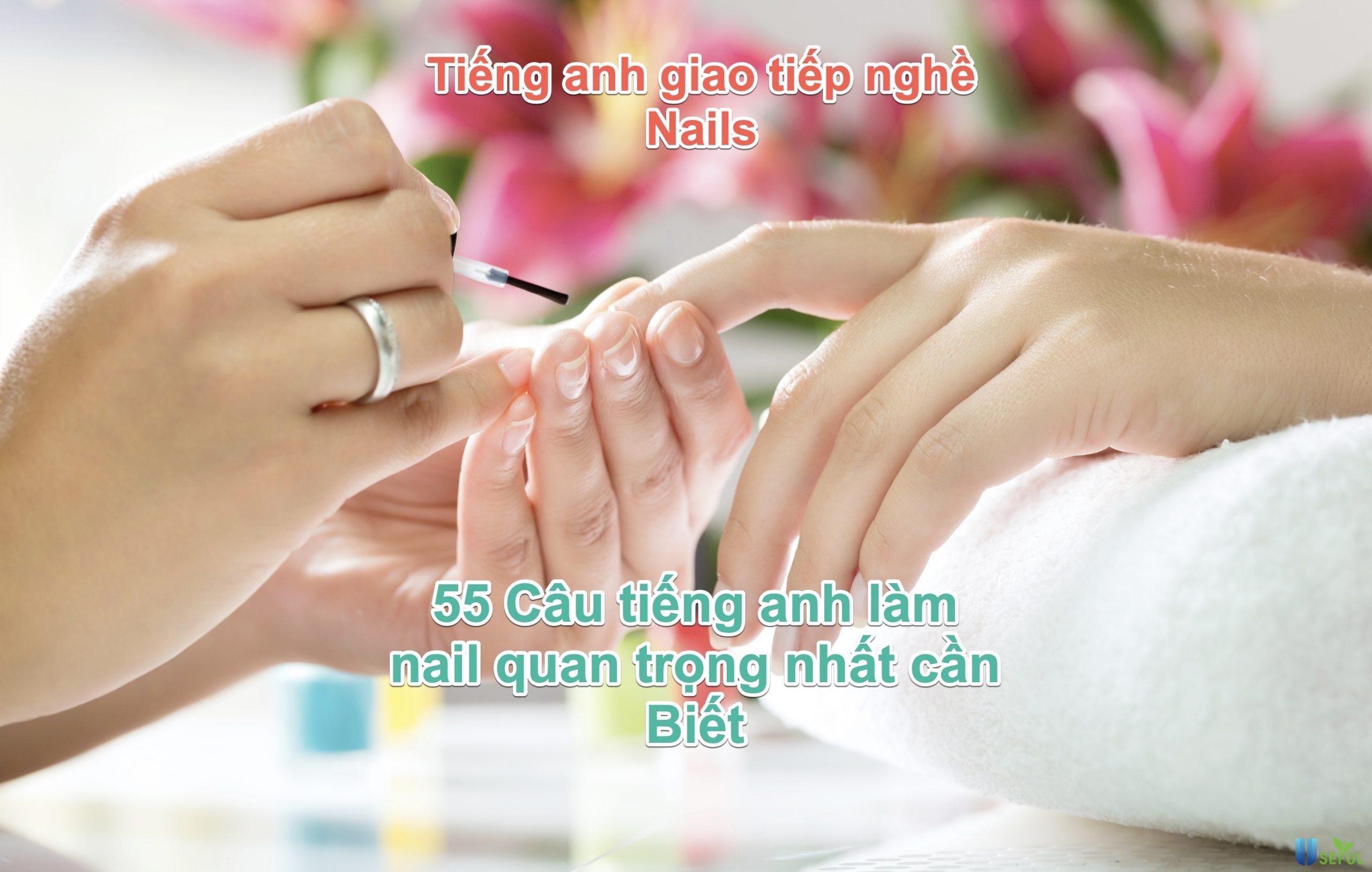 tiếng anh nghề nails