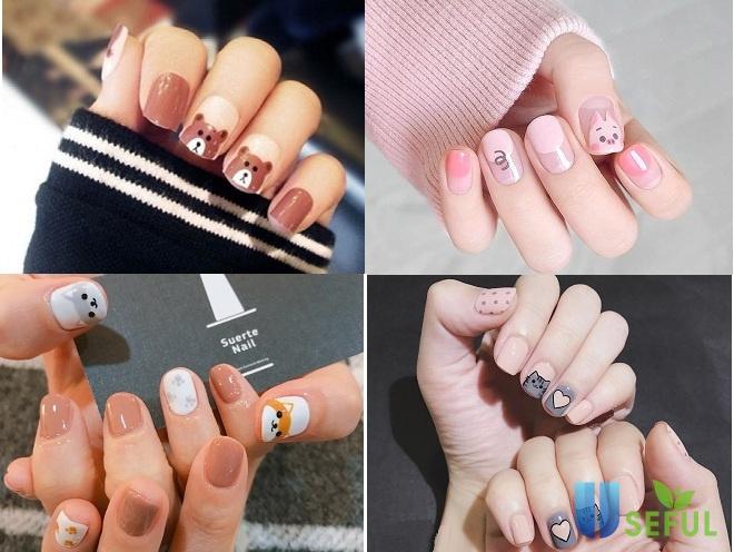 Mẫu nail ấn tượng với hình ảnh thú cưng2
