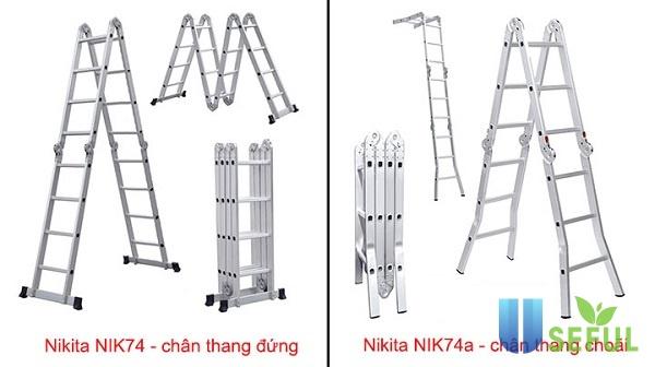 Thang nhôm gấp 4 đoạn Nikita NIK74A - Dichvuhay.vn