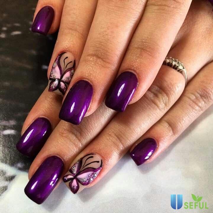 Vẽ nail bươm bướm đẹp nhất