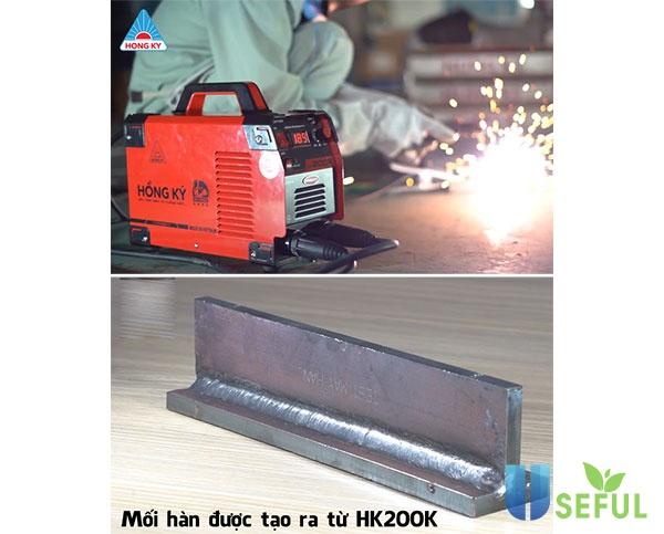 Mối hàn được tạo ra từ máy hàn Hồng Ký HK200K - Dichvuhay.vn