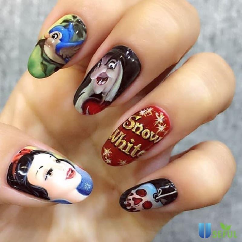Mẫu nail hoạt hình nổi tiếng