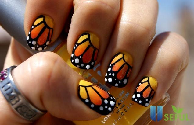 DIY Butterfly Nail Art - I Fashion Styles