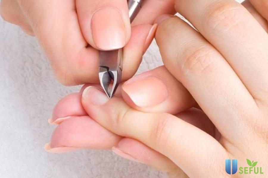 Không nên cắt vào phần biểu bì của da tay